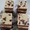 Trio fudge van wit, melk en pure chocolade 100 gram
